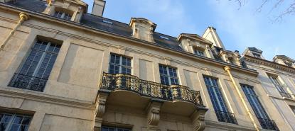Facade de l'hôtel de Lauzun, sur l'Île Saint-Louis, à Paris.