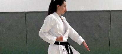 Prunelle - ceinture noire de karaté